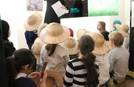Åben skole fabeldyrssafari Blågårds Skole Nationalmuseet Må kun bruges i forbindelse med omtale af samarbejdet mellem Nationalmuseet og Blågårds Skole