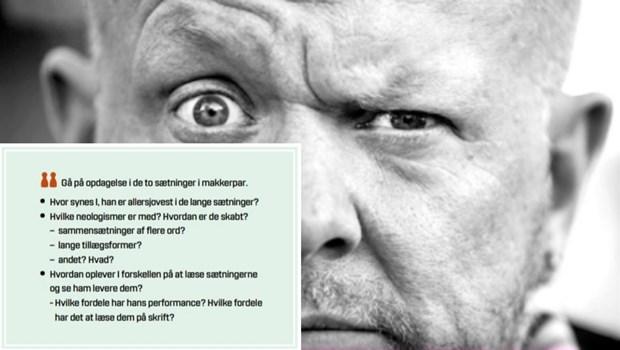 Trine May giver i bogen om Anders Matthesen konkrete forslag til, hvordan man kan arbejde med standup-genren i danskfaget.