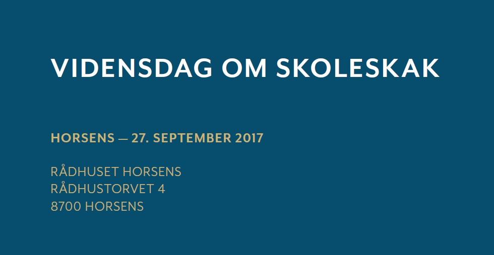 Lokal Vidensdag om Skoleskak, Horsens