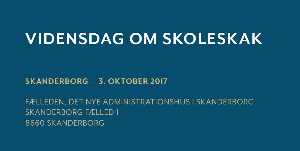 Lokal Vidensdag om Skoleskak, Skanderborg