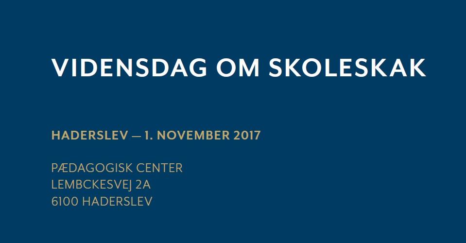 Lokal Vidensdag om Skoleskak, Haderslev