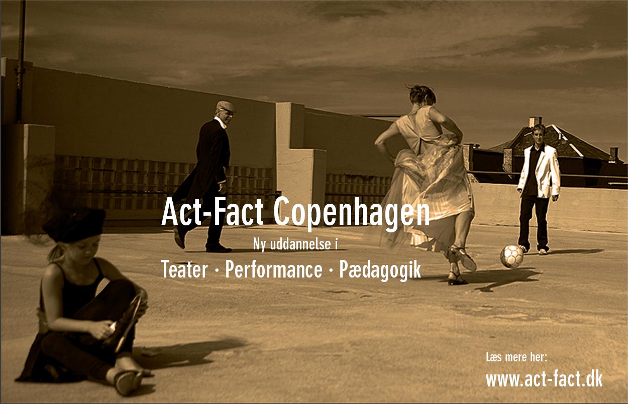 Informationsmøde om uddannelsen Teater · Performance · Pædagogik.