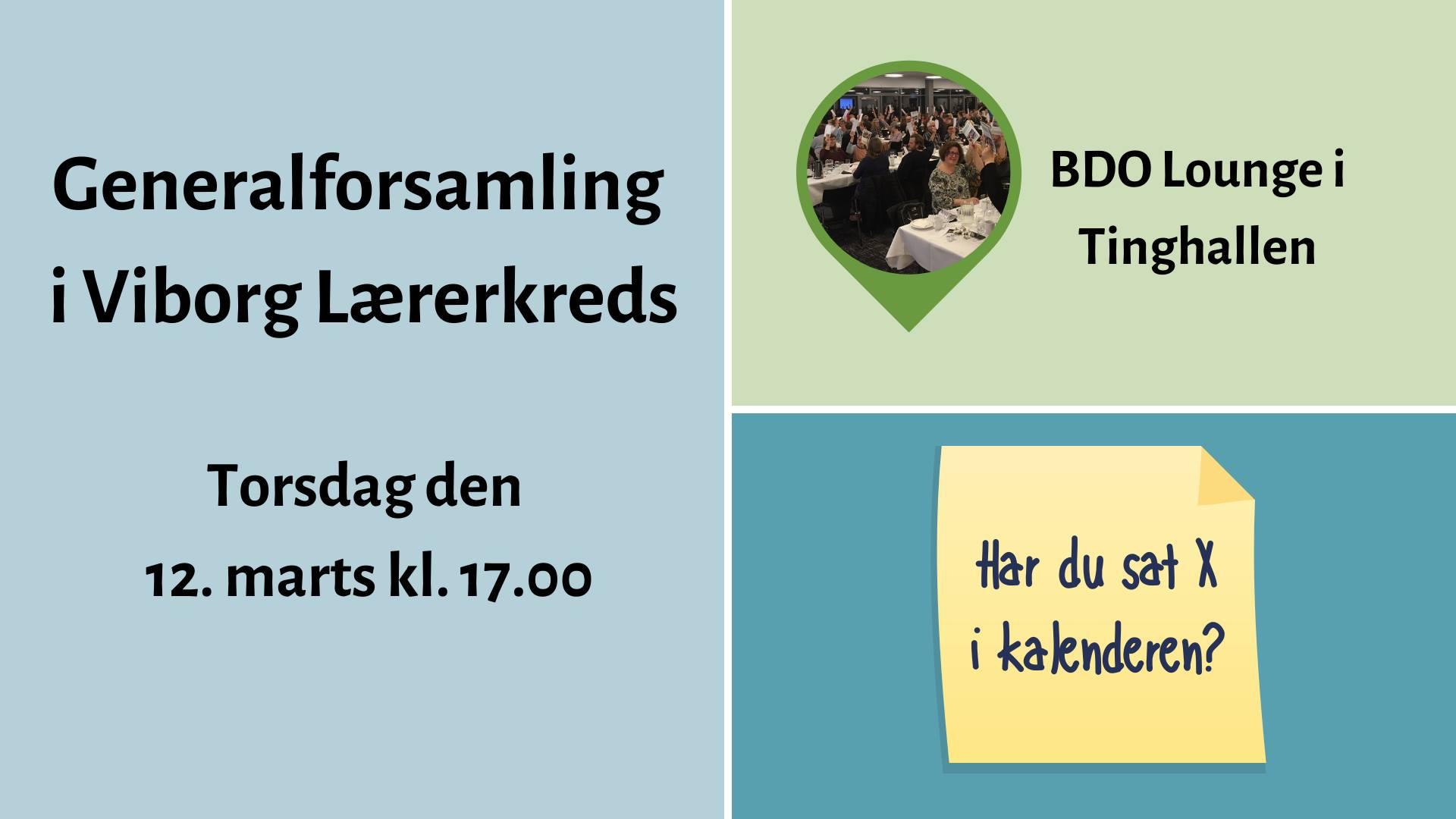 Generalforsamling 2020 i Viborg Lærerkreds